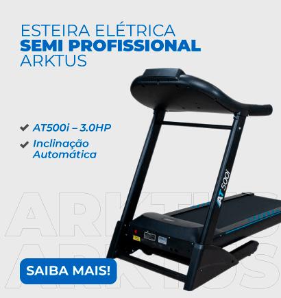 Esteira Elétrica Semi Profissional AT500i – 3.0HP - Inclinação Automática - Arktus