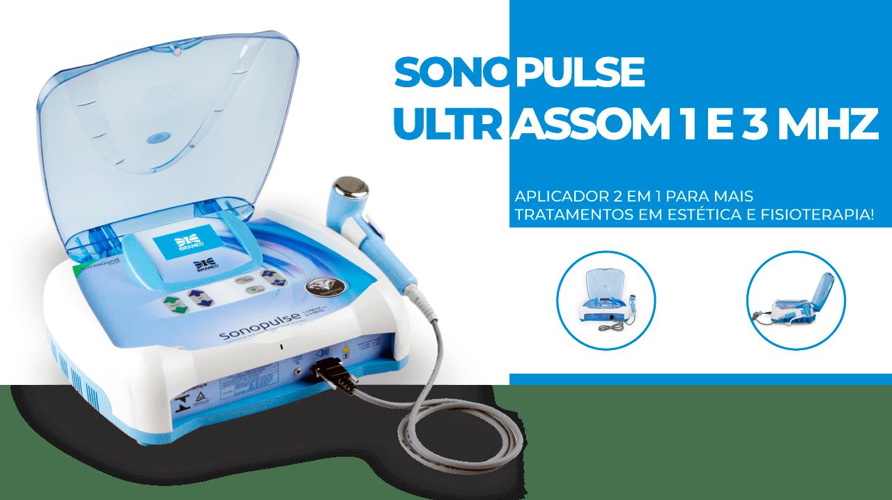 Sonopulse 1 e 3Mhz Ibramed - Aparelho de Ultrassom com 2 ERAs