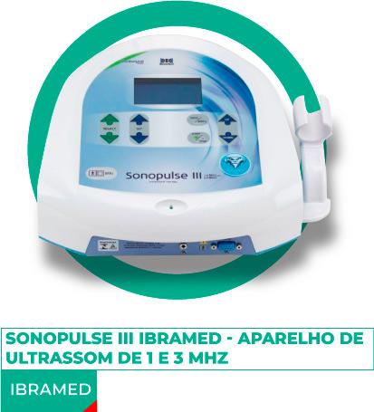 Sonopulse III Ibramed - Aparelho de Ultrassom de 1 e 3 MHz