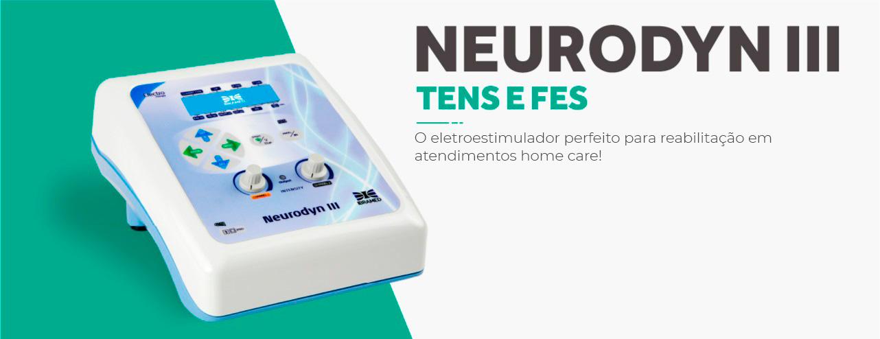Neurodyn III Ibramed - Aparelho de Corrente Tens, Fes Burst 02 Canais